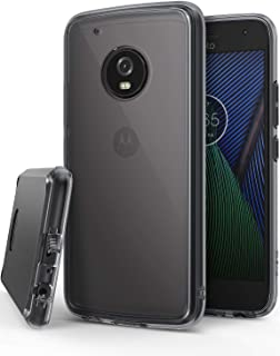 Ringke Fusion Compatible with Motorola Moto G5 Plus Case Crystal Clear PC Back TPU Bumper Case Drop Protection, Shock Absorption Technology - Smoke Black