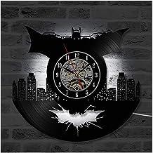 Batman Vinyl Record Wall Clock, LED Luminous Night light 12 Inch Vinyl Record Clock Best Gift Decoration