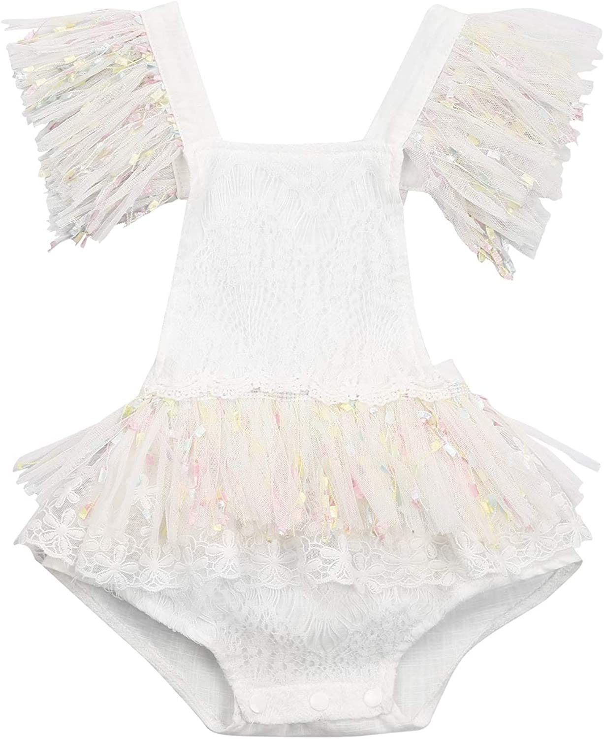 Newborn Infant Baby Girl Clothes Romper Sleeve Cheap mail Great interest order shopping Dress Ruffle Lace