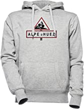Alpe Dhuez Road Sign Cycling Unisex Mannen Dames Capuchon Grijs Unisex Men's Women's Hoodie Grey