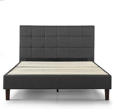 Zinus Lottie Upholstered Platform Blue Bed Frame | FSPB-T Model | Twin