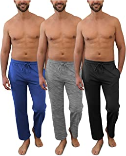Men's Pack of 3 Soft & Light 100% Cotton Drawstring Yoga...