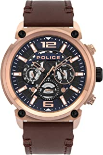 Police Watches Armor Mens Analog Quartz Watch with Leather Bracelet PL.14378JSR-03