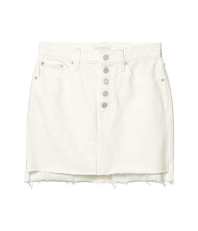 Lucky Brand Mid-Rise Mini Skirt in Clean White Step (Clean White Step) Women
