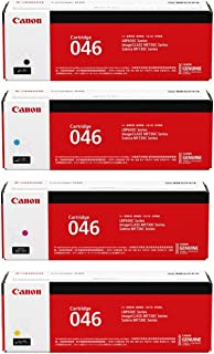 Canon 046 Standard Yield Toner Cartridge Set - Cyan, Black, Magenta and Yellow - 1 Each In Retail Packing