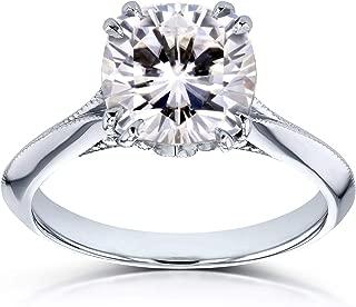 Kobelli Moissanite (FG) and Diamond Engagement Ring 2 7/8ct TCW in 14k White Gold