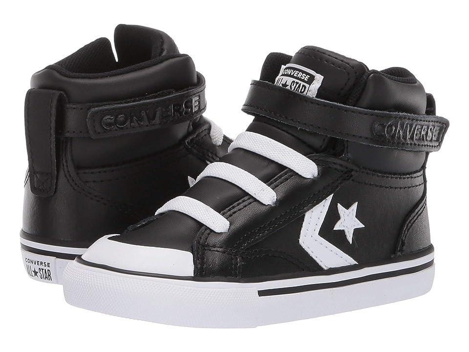Converse Kids Pro Blaze Strap Hi (Infant/Toddler) (Black/White/White) Boy