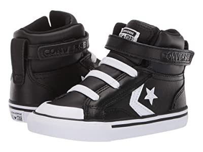 Converse Kids Pro Blaze Strap Hi (Infant/Toddler) (Black/White/White) Boy