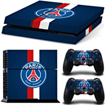 Hambur® PS4 Console Designer Skin for Sony PlayStation 4 System plus Two(2) Decals for: PS4 Dualshock Controller --- Paris Saint-Germain Football Club