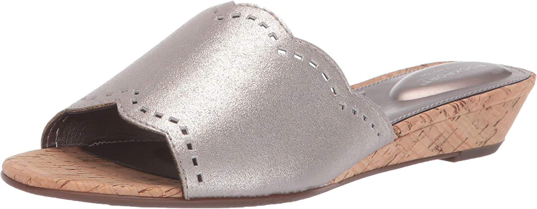 Rockport Womens Tm Zandra Slide Wedge Sandal