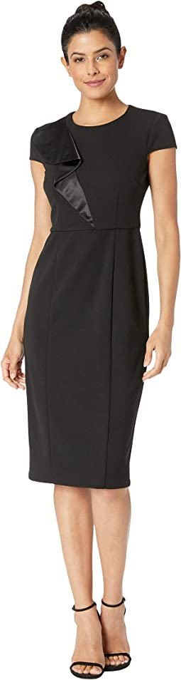 f0e42d14 Donna Morgan. Tulip Cap Sleeve Square Neck Sheath Crepe Dress. $118.00.  Black