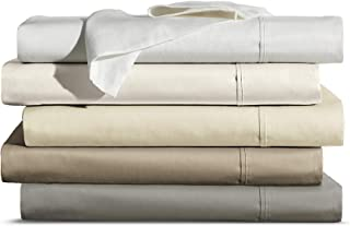 Brielle Home Luxuriously Soft 600 Thread Count 100% Cotton Sateen 4 Piece Sheet Set, King, Ivory