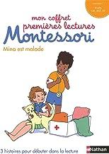 Mon coffret premières lectures Montessori : Mina est malade (1ère lecture Montessori) (French Edition)