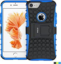 iPhone 7 Case,Fetrim Rugged Dual Layer Shockproof TPU Case Protective Cover for Apple iPhone 7/8 with Built-in Kickstand (Blue)