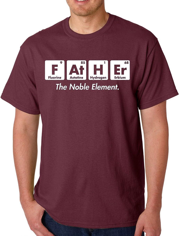 AW Fashions Father The Noble Element - Camiseta para Hombre con Texto en inglés Fathers Day