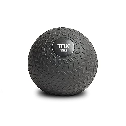 TRX Training Slam Ball with Easy-Grip Textured Surface and Ultra-Durable Rubber Shell