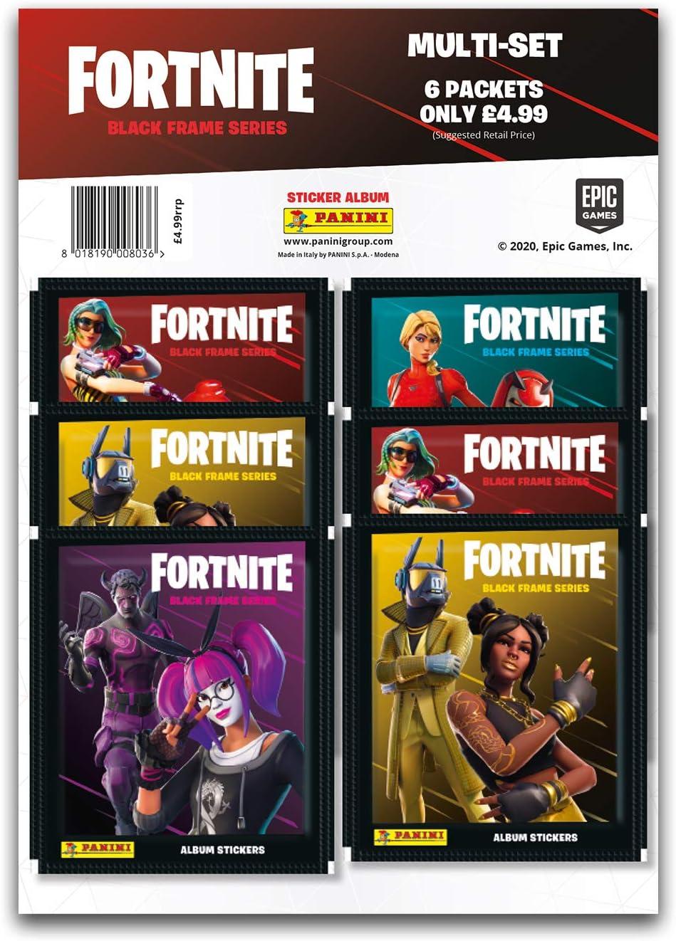 Panini Fortnite Black Frame Series Sticker Collection x50 Packs