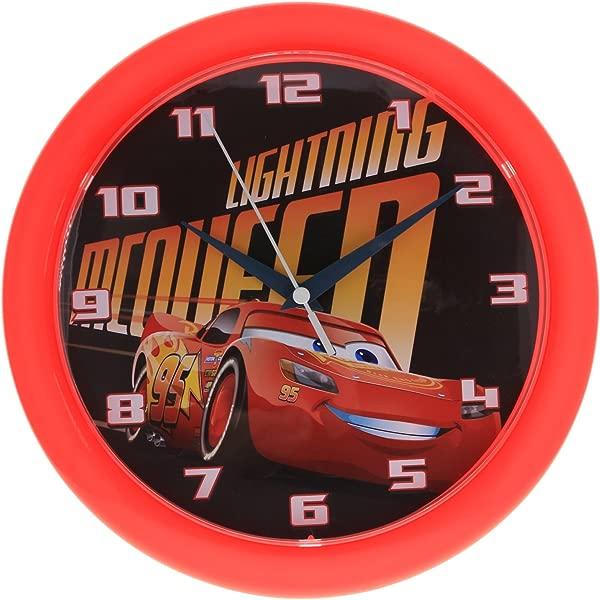 Disney Pixar Cars 3 10 Inch Wall Clock Home Decor Analog Style Quartz Red