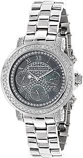 Diamond Plated Platinum Watch 2ctw of Diamonds by Luxurman