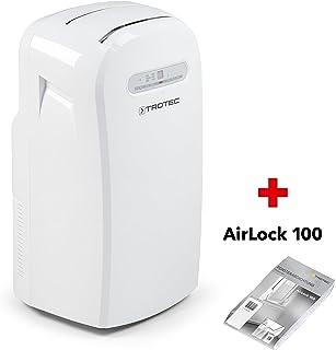 TROTEC Acondicionador de aire local PAC 3500 / Función de temporizador, Salida de aire ajustable, Velocidades del ventilador: 3, Adecuado para habitaciones de hasta: 115 m³ incluido AirLock 100