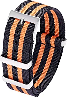 Mens 22mm 20mm NATO Strap Nylon Watch Bands - High-Density Ballistic Nylon Straps