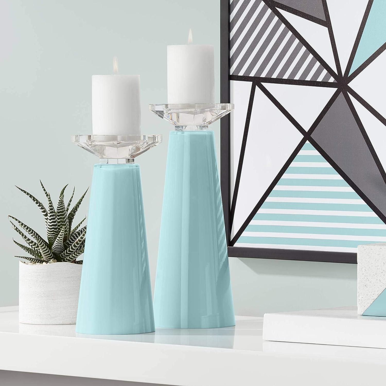 Color + Manufacturer regenerated product Plus Meghan Raindrop Glass Holder Candle Very popular Pillar 2 Set of