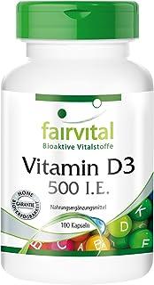 Vitamina D3 500 U.I. - Colecalciferol - 100 Cápsulas - Calidad Alemana