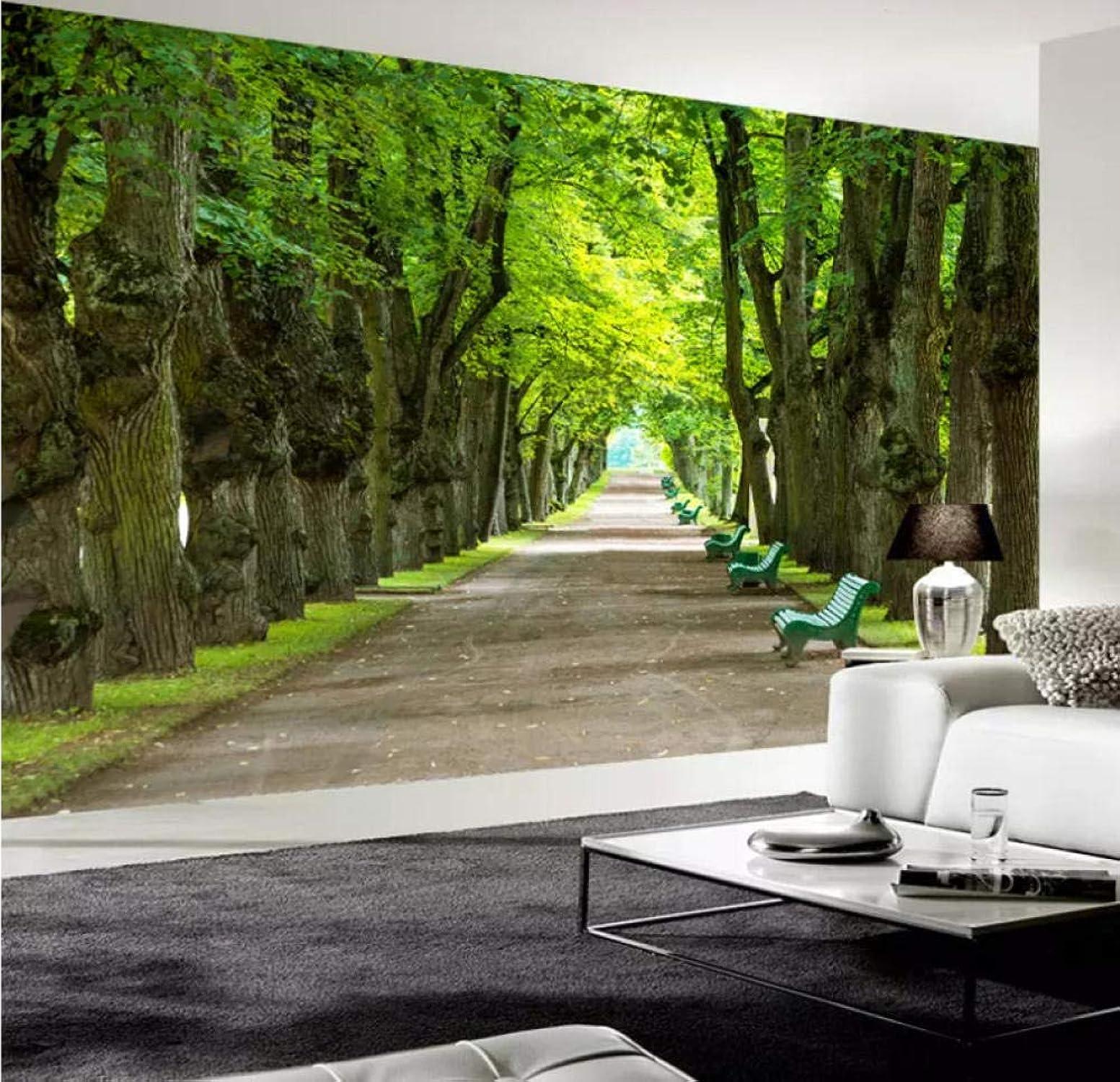 mejor vendido Personalizado Cualquier Tamao Mural Pintura Mural Ver Ver Ver Big Tree Boulevard 3D Foto Wallpaper Sa estar Dormitorio coración Papel Tapiz Mural-200X140CM  punto de venta
