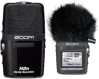 Zoom H2n grabadora estéreo MP3 WAV + keepdrum WS-BK pelo-parabrisas