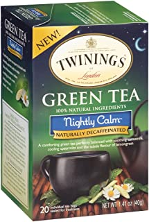 Twinings Nightly Calm Bagged Green Tea, 2 pack of 20 Count