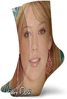 LisaJYancey Hilary Duff Unisex Socks Fashion Crew Socks Novelty Funny Socks