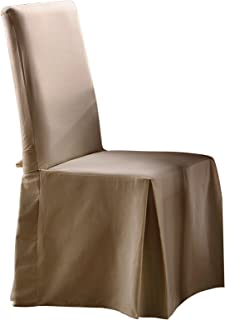 SureFit Duck Solid, Dining Chair, Linen