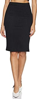 Annabelle By Pantaloons Synthetic a-line Skirt (110059975_ Black_ 32)