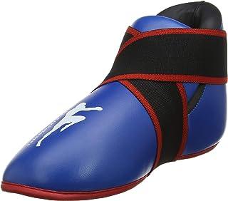 Blue kickboxing boots semi/full contact kick boxing foot protector kids kick boxing foot pads