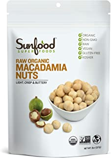 Sunfood Superfood Raw Organic Macadamia Nuts Unsalted - Harvested and Processed at Low Temperatures - Free of Preservative...