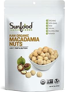 Sunfood Superfoods Macadamia Nuts- Raw Organic. 8 oz Bag