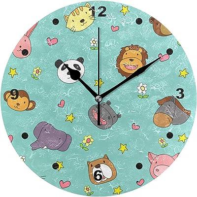 ISAOA Reloj de Pared Boxes, silencioso, Redondo, para el hogar ...