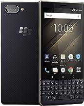 BlackBerry KEY2 LE (Lite) Dual-SIM (64 GB, BBE100-4, Teclado QWERTY Solamente) (sólo gsm, no CDMA) Smartphone 4G Desbloqueado de fábrica (champán/Dorado) – Versión Internacional