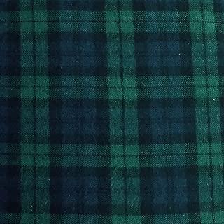 5 Yard Bolt Black Watch Plaid Flannel Cotton Fabric