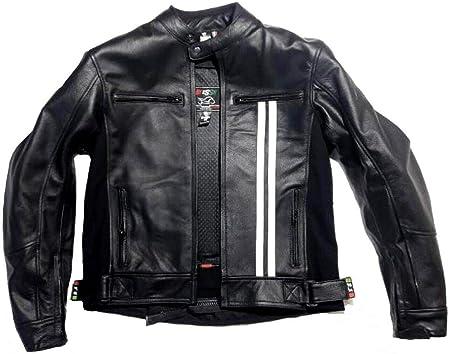 stile vintage Giacca in pelle MOTO Racing//Touring BIESSE nero, S Gilet termico rimovibile colore Nero-Bianco Taglie XS completo di Protezioni CE 4XL sfoderatile