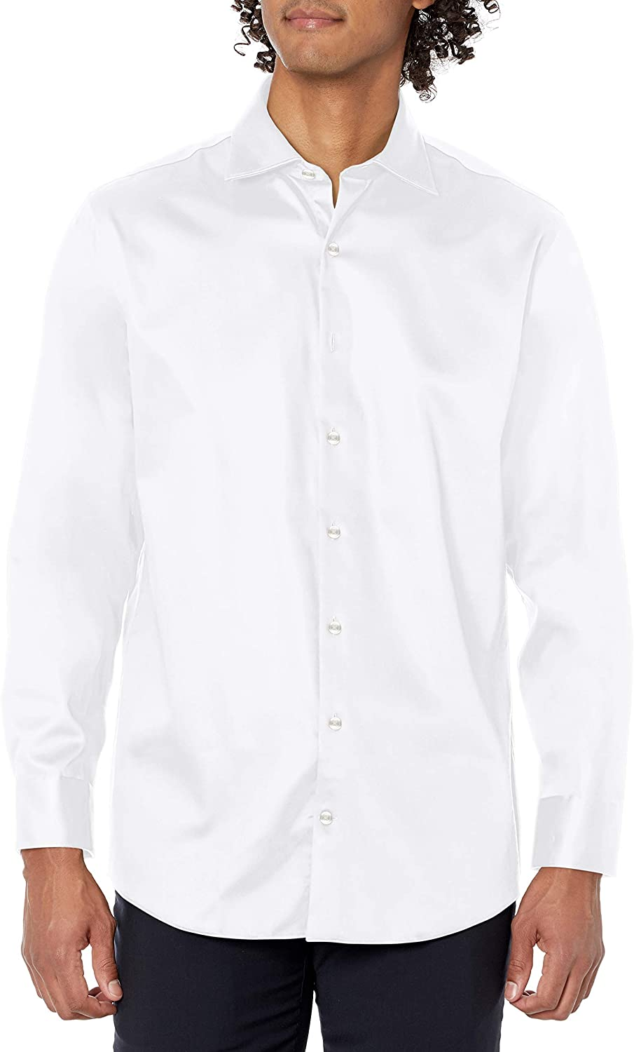 Kenneth Cole REACTION Men's Dress Shirt Regular Fit Stretch Collar Non Iron Solid