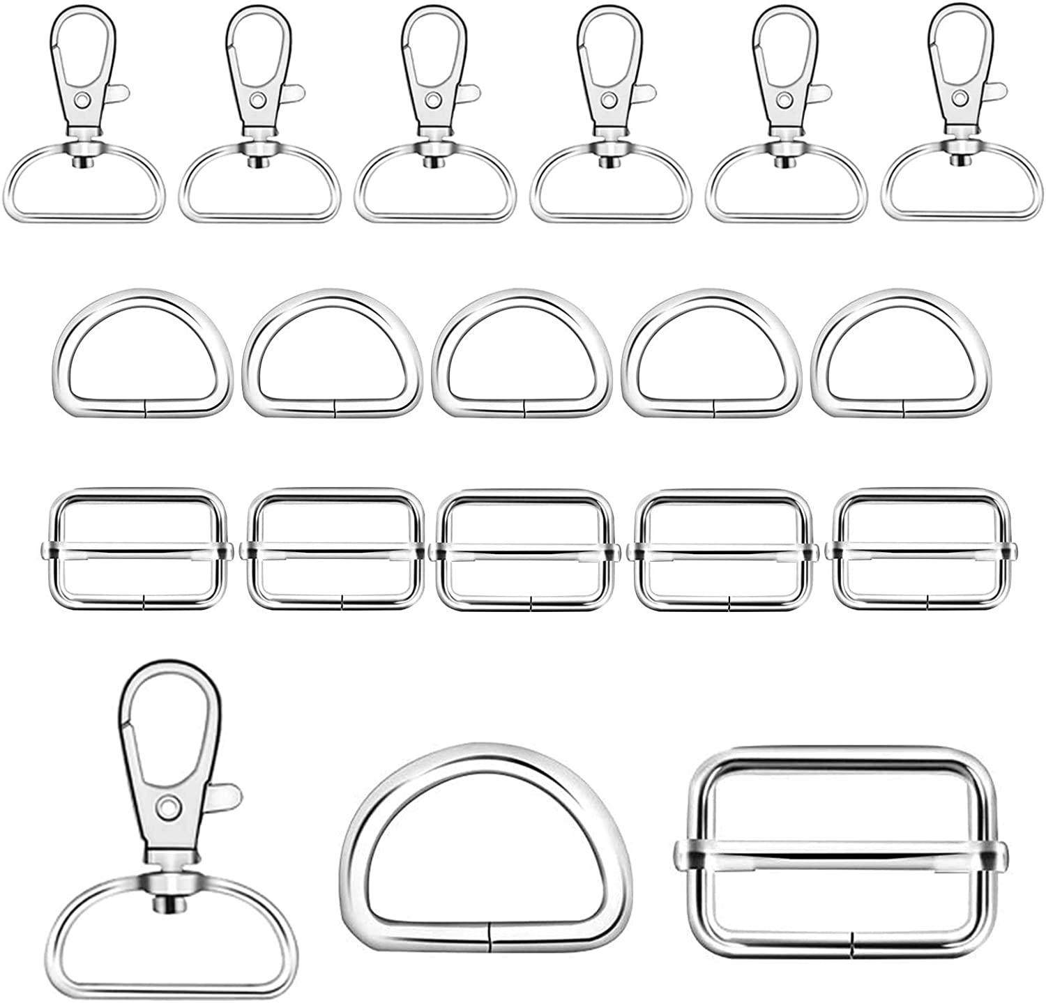 70Pcs 1 Inch Silver Metal Swivel Keychain an Rings Hooks with 35% OFF D Super sale