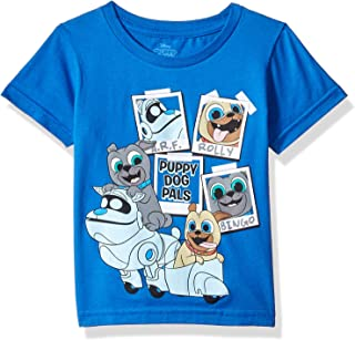 Disney Baby-Boys P6SD035-02T Puppy Dog Pals Rolly, Bingo, Arf Short Sleeve Tshirt Short Sleeve T-Shirt - Blue