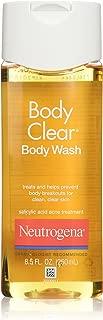 Neutrogena Body Clear Acne Body Wash with Glycerin & Salicylic Acid Acne Medicine for Acne-Prone Skin, Non-Comedogenic, 8.5 fl. oz (Pack of 2)
