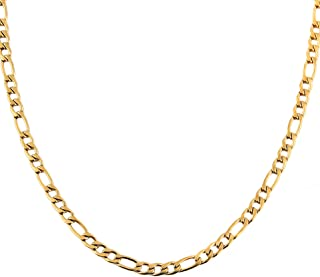 Best figaro chain necklace gold Reviews
