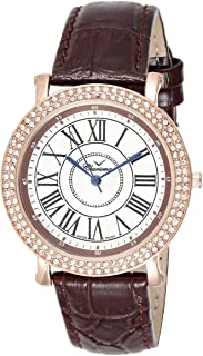Charisma Women's White Dial Leather Band Watch - C6664B