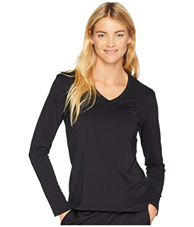 adidas Long Sleeve Tech T-Shirt (Black/Black) Women