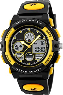 BesWLZ Kids Watches Boys Waterproof Digtial Sport Alarm Analog Quartz Wrist Watch with Alarm