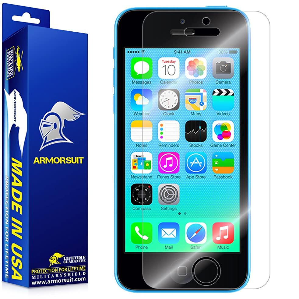 ArmorSuit MilitaryShield - Apple iPhone 5C Screen Protector Anti-Bubble Ultra HD - Extreme Clarity & Touch Responsive Shield with Lifetime Free Replacements - Retail Packaging