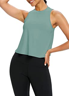 Bestisun Womens Crop Top Exercise Clothes Athletic Tops Racerback Tank Tops Cropped Shirts